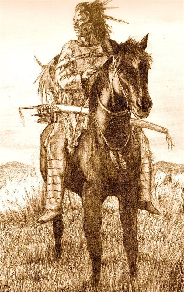 Native American Horse Drawings Native american on horse back