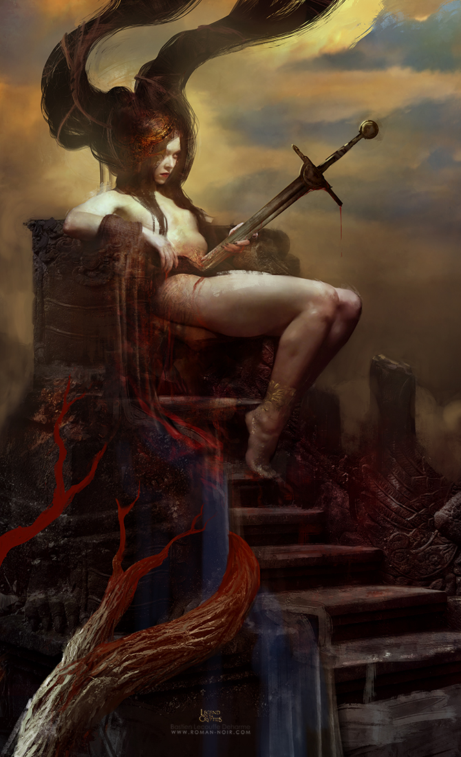 The Impaled Queen by Deharme