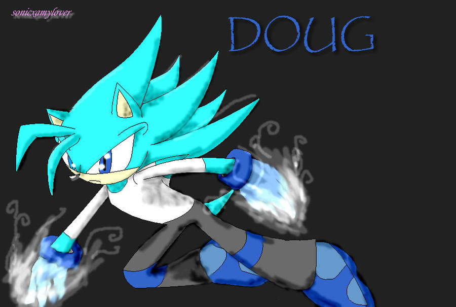 Gift: Doug the hedgehog by sonicxamylover