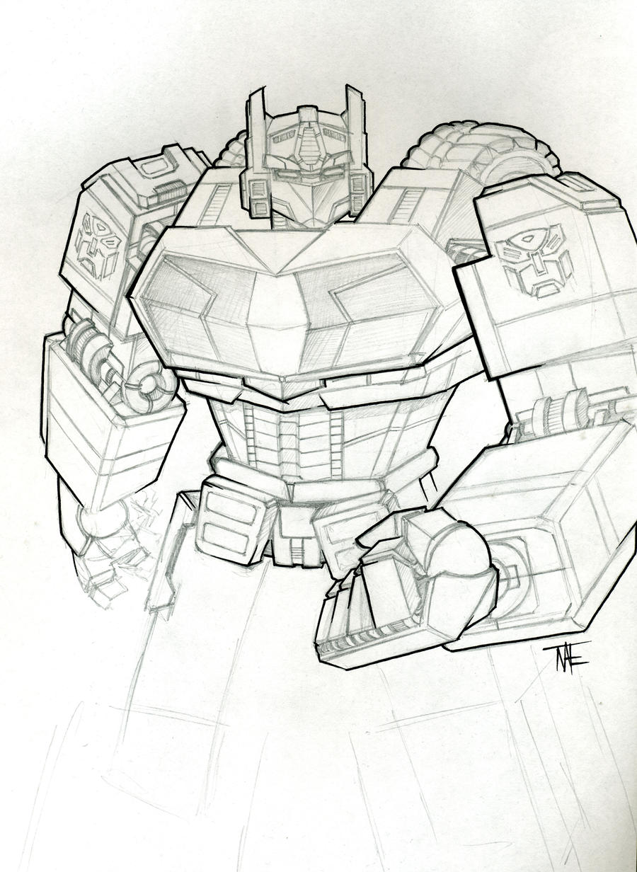 wfc optimus prime sketch by natephoenix on deviantart