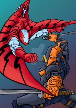 Commission: Stingray vs Deathstroke