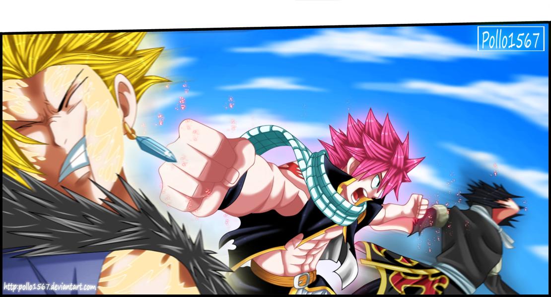 natsu vs sting and rogue by pollo1567 on DeviantArt