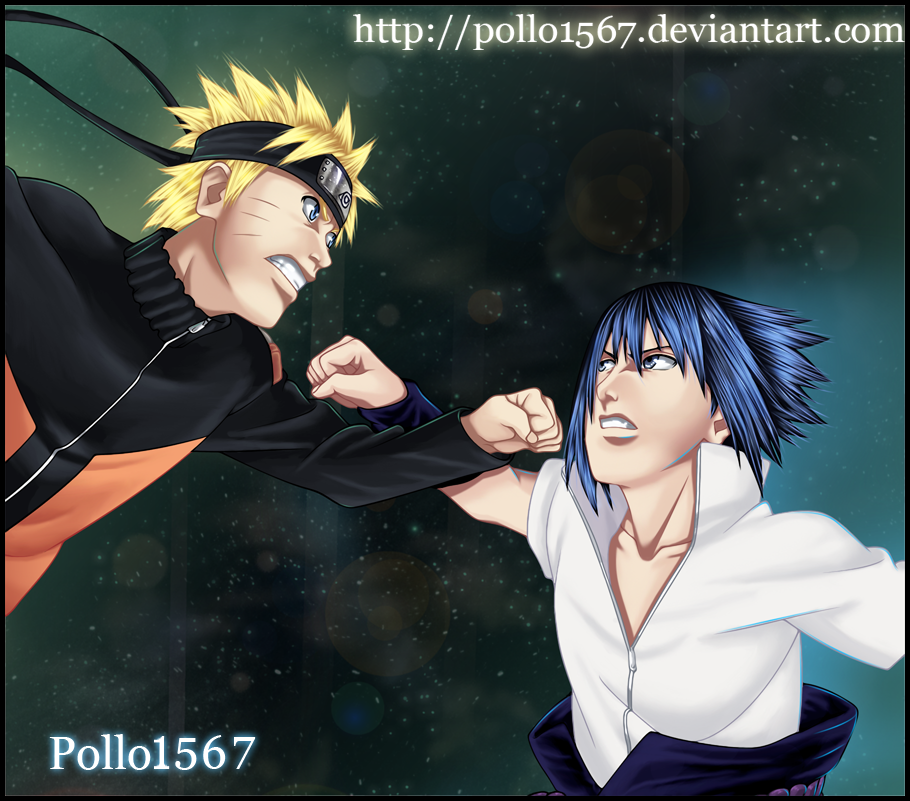 naruto vs sasuke by pollo1567