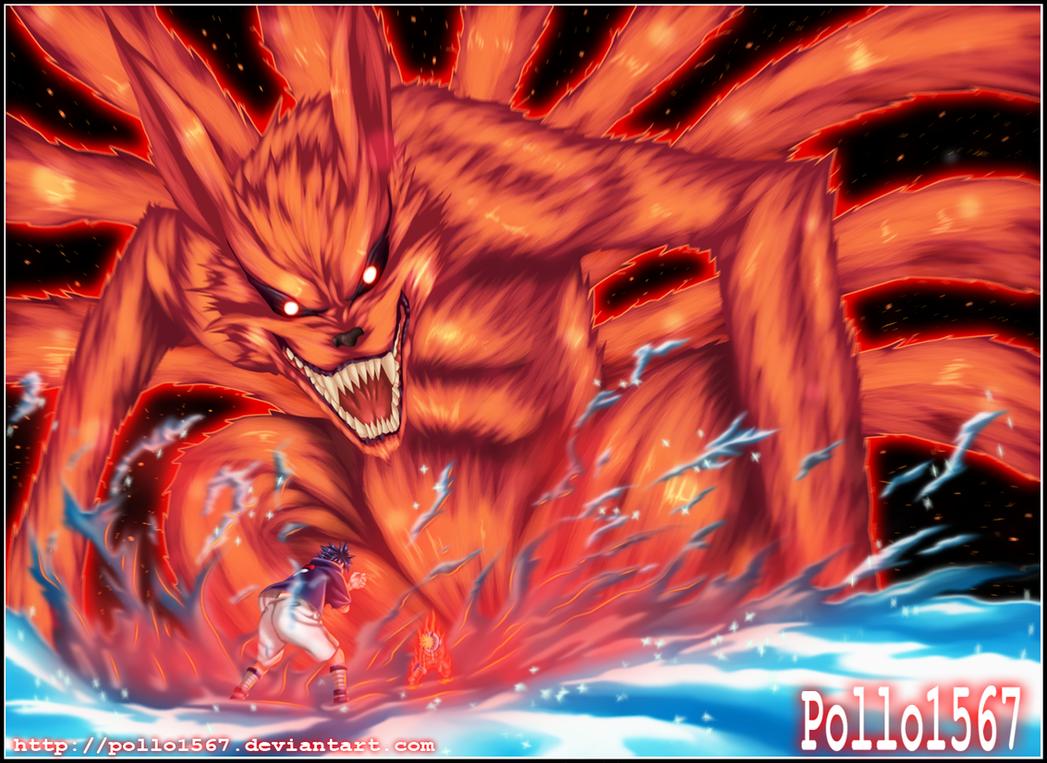 naruto y el nueve colas vs sasuke by pollo1567