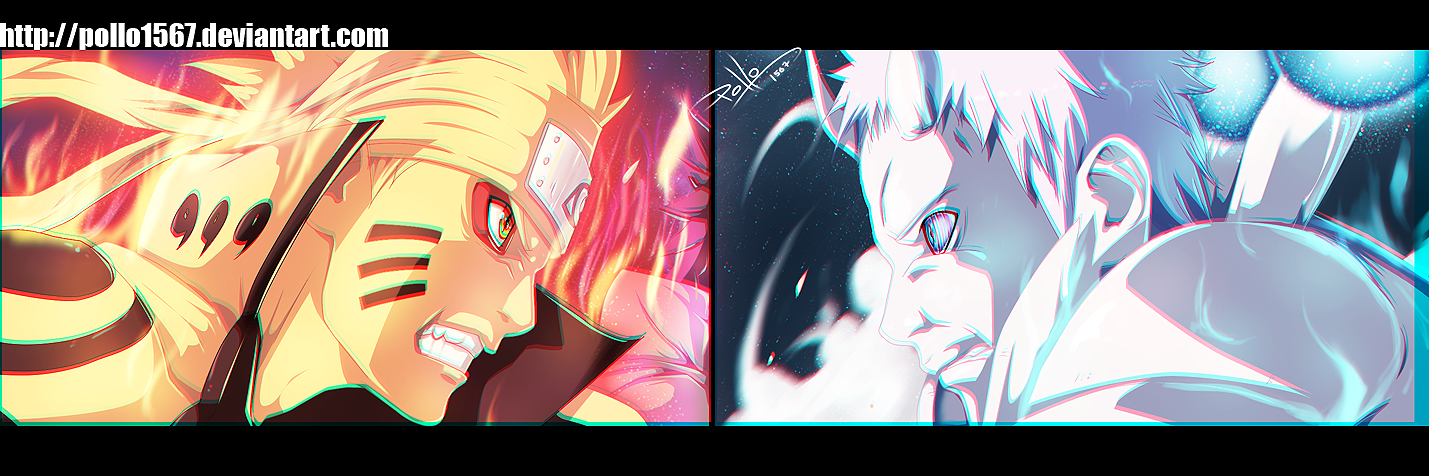 Naruto 651 - Naruto Y Sasuke Vs Obito by pollo1567