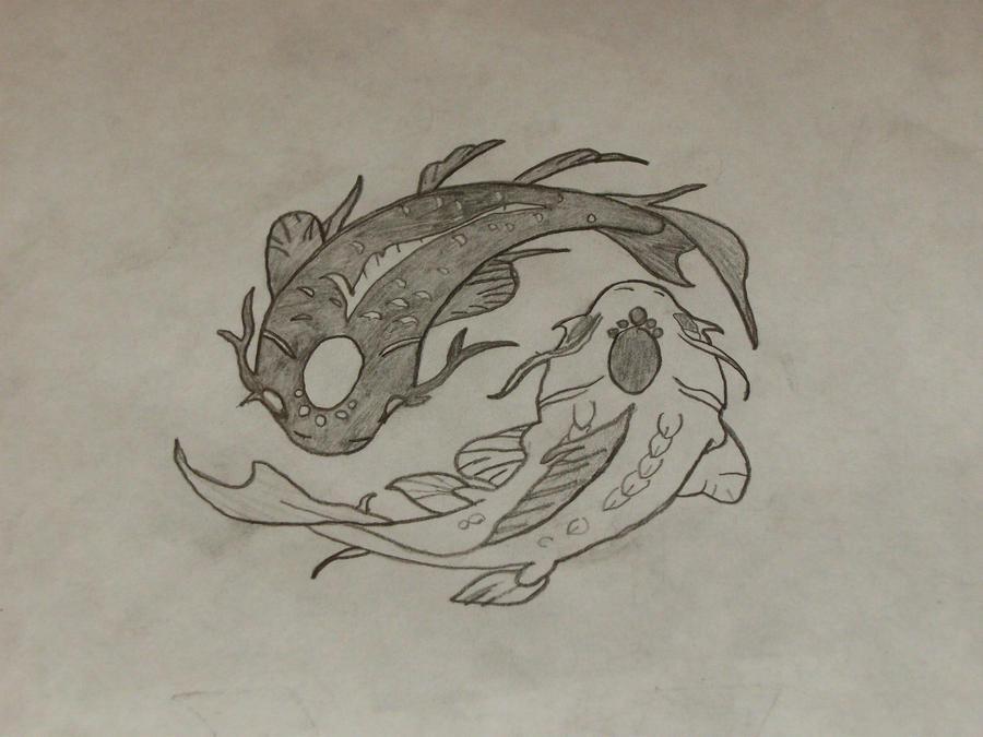 Yin and Yang Koi Fish by Smirkaotic