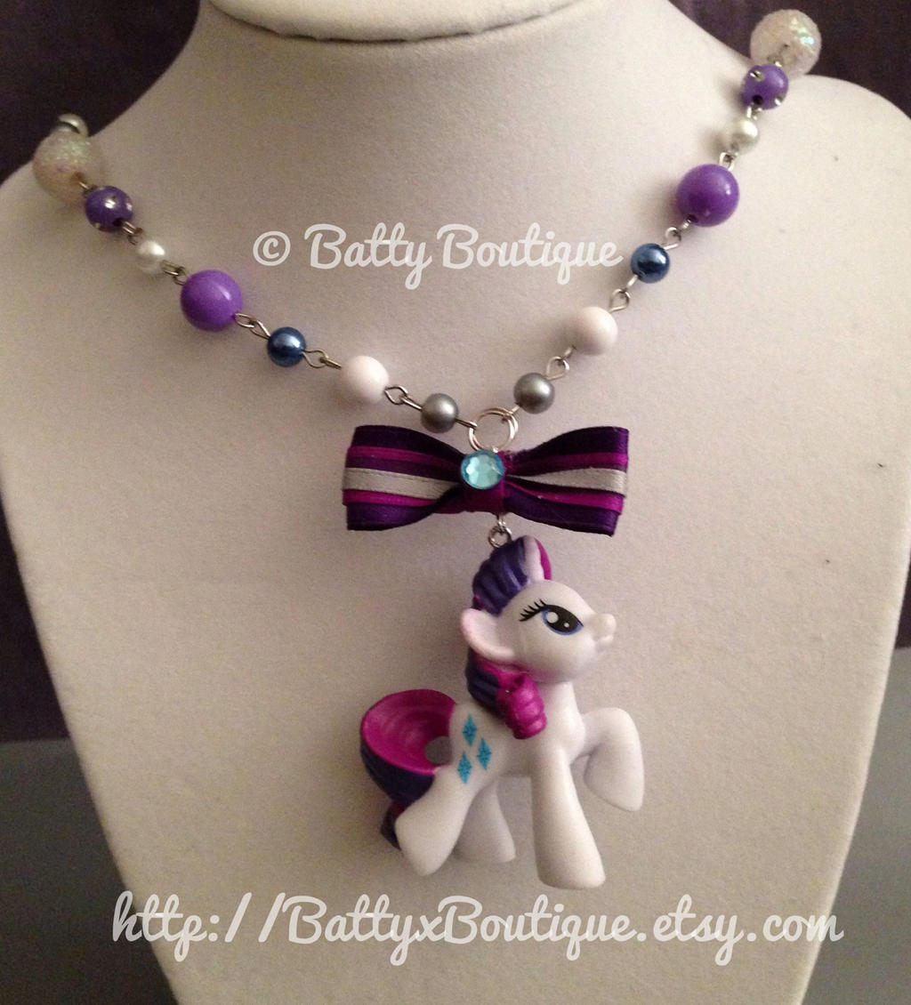 Rarity my little pony necklace by battycreations on deviantart rarity my little pony necklace by battycreations mozeypictures Images
