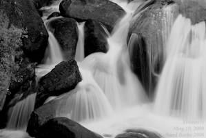 Yosemite-cascade 2bw by rbeebephoto