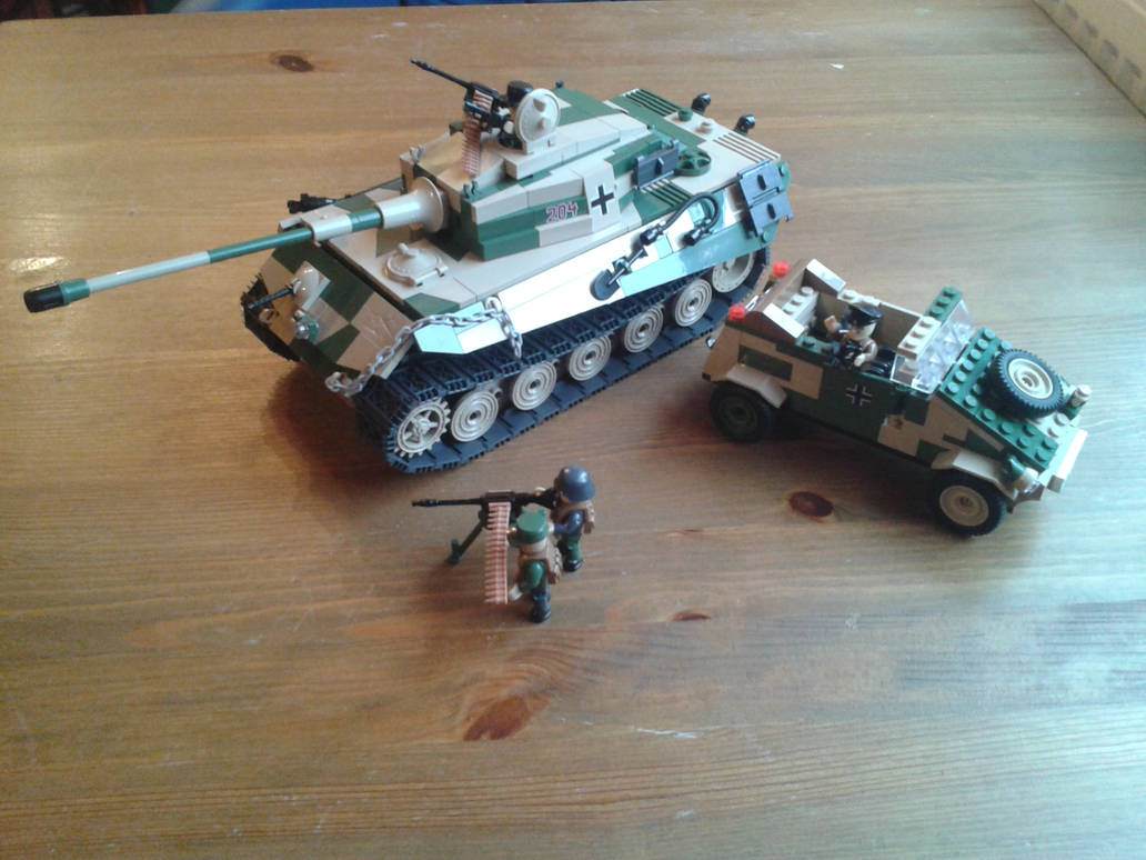 COBI (MOC) Kingtiger,Kuebelwagen,Mg34 on Tripod by MCHONI on DeviantArt