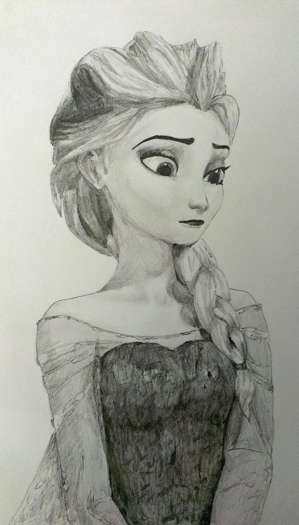 Elsa Closeup by LegendofFullmetal