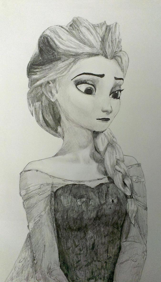 Elsa Closeup by LegendofFullmetal
