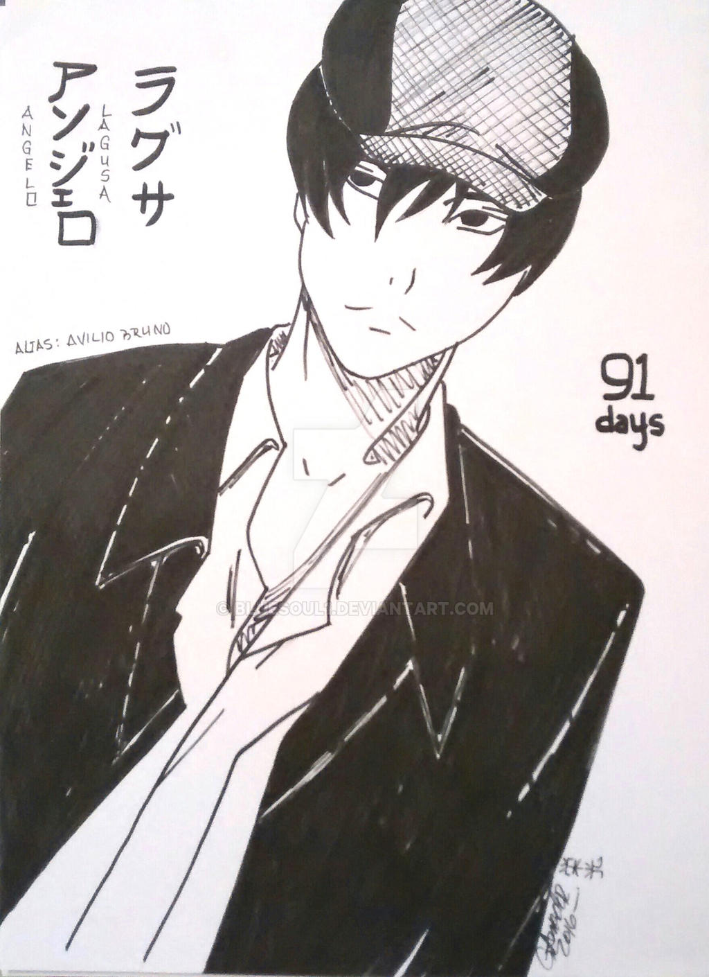 LAGUSA ANGELO AVILIO BRUNO From 91 Days By Bluesoul1