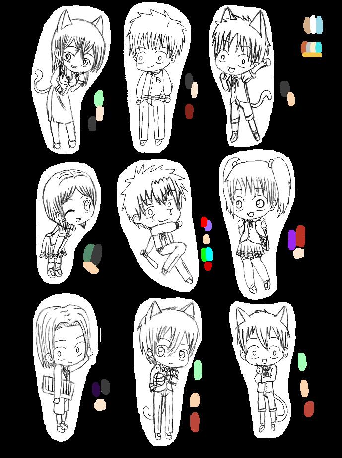 d kids school uniformssketches 99 by neko kiri saezuru - Sketches Of Kids