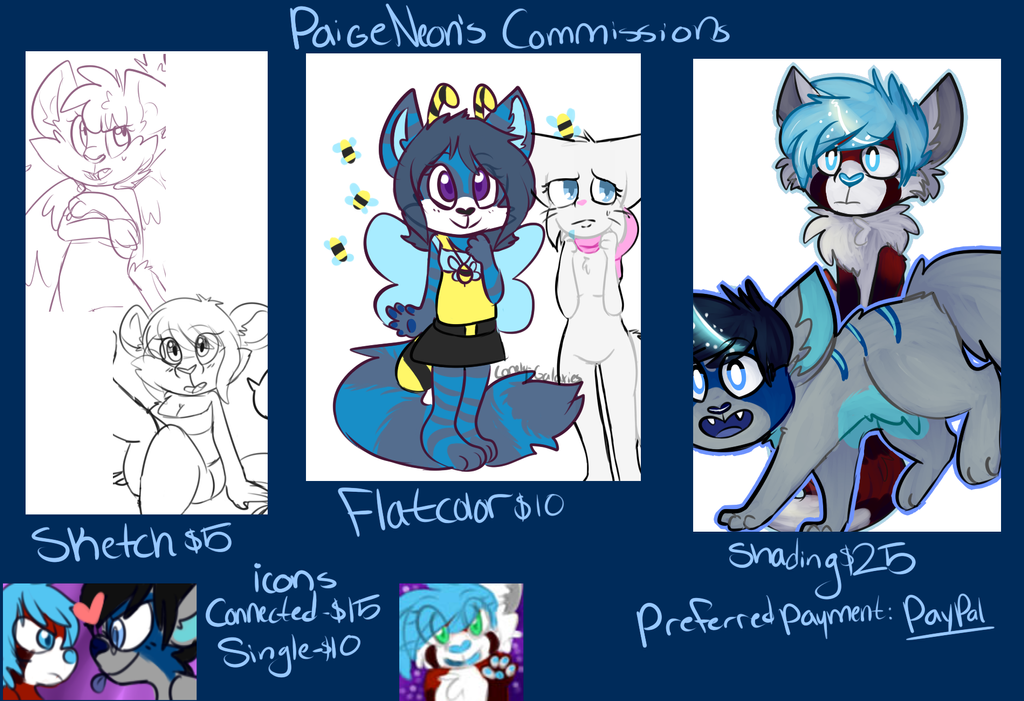 Updated Commission Price sheet by lonely-galaxies