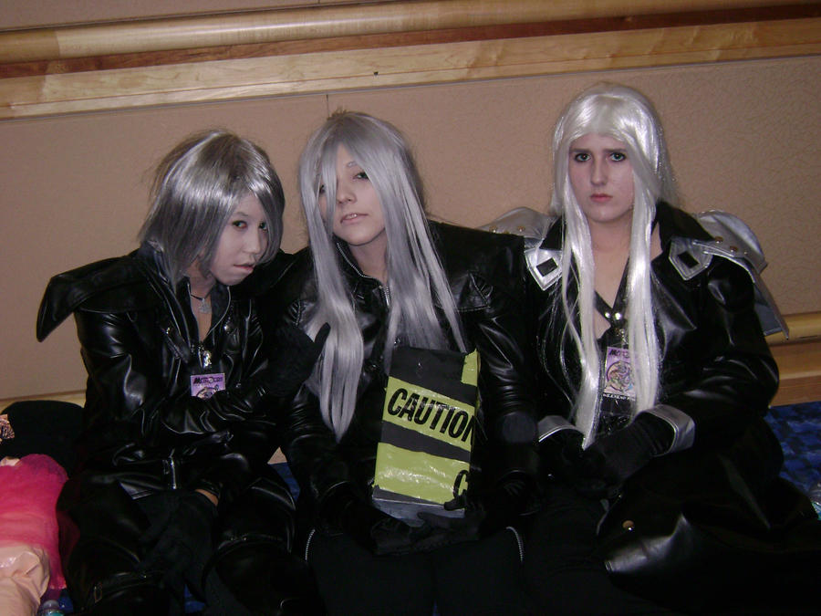 Kadaj, Yazoo and Sephiroth by Wolf-Girl-Rin