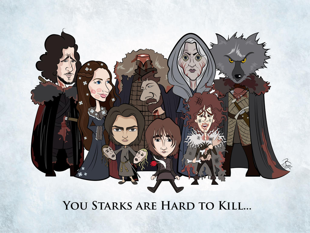 (As of Dance with Dragons) Stark Family Portrait by Rewind-Me