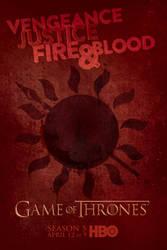 Game of Thrones Season 5 Dorne Poster