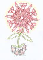 Knotwork flower by herbevore