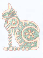 Knotwork cat by herbevore