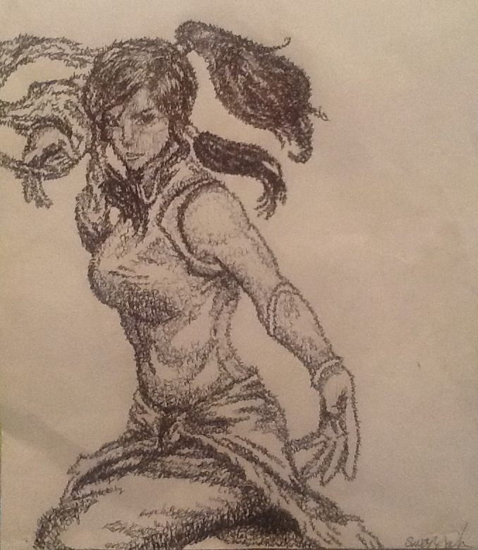 Micrography Korra by Badcook-goodartist