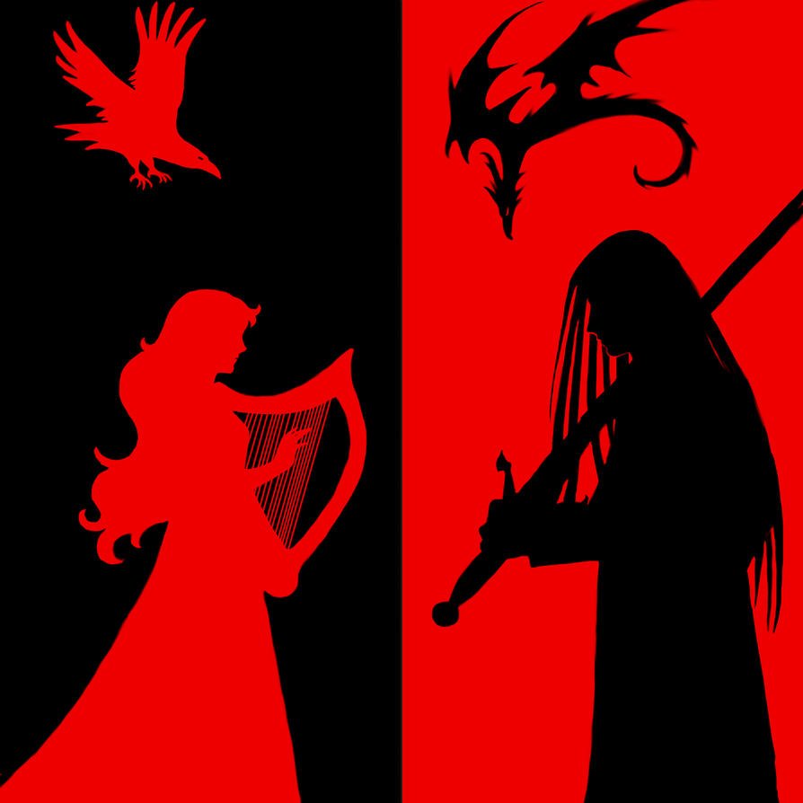 Red Crow, Black Dragon by neerai
