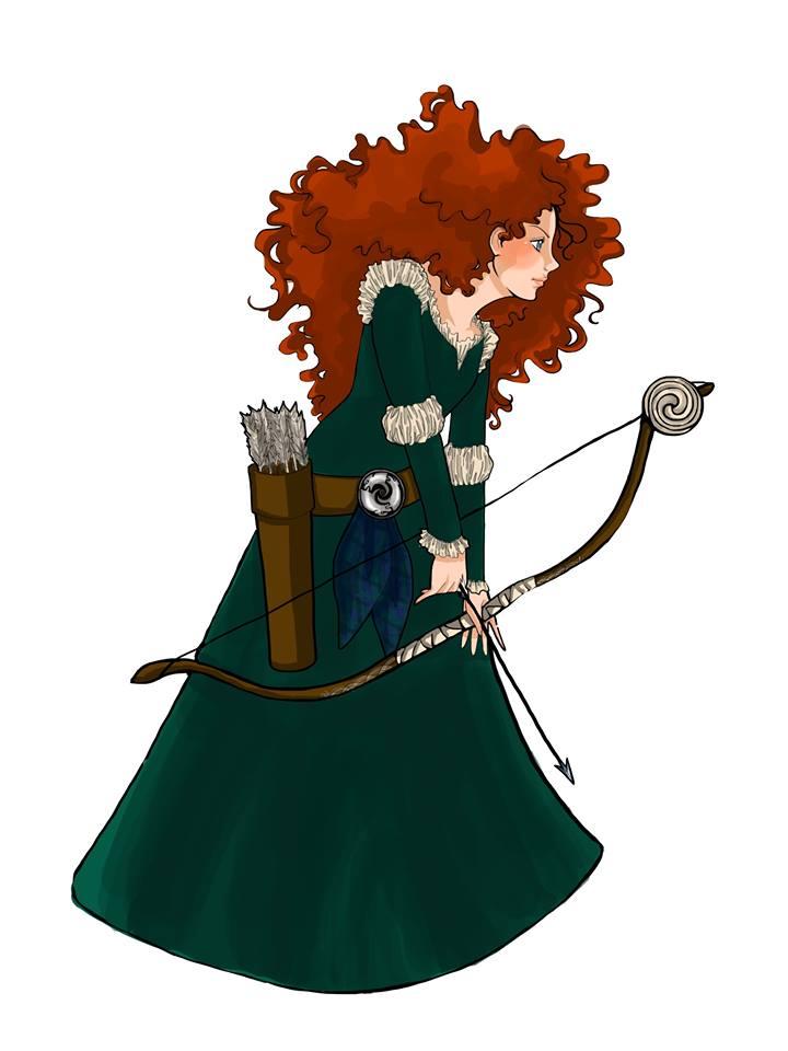 Merida, the Brave Princess by neerai