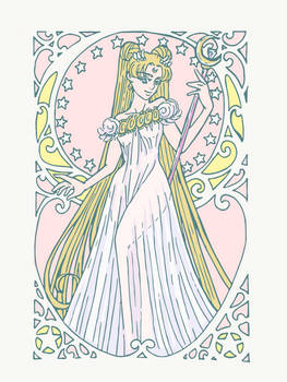Sailor Moon Fanart Princess Serenity Art Nouveau