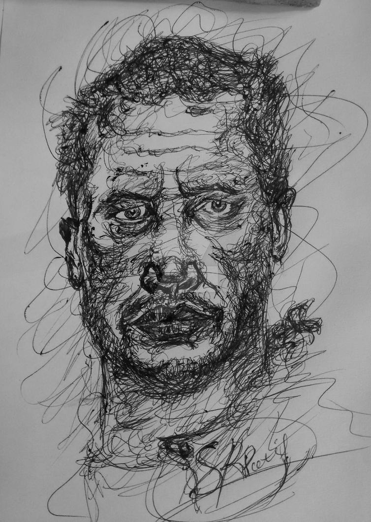 Scribble Portrait by sameer-patil