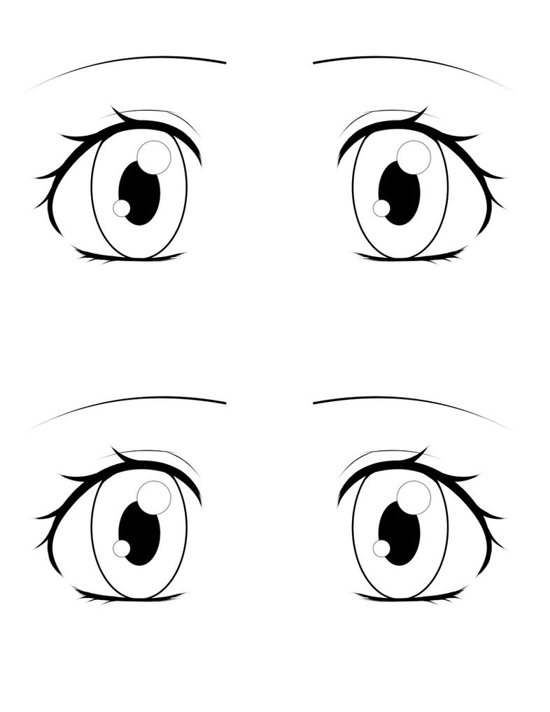 Eye Template By Love2DrawManga