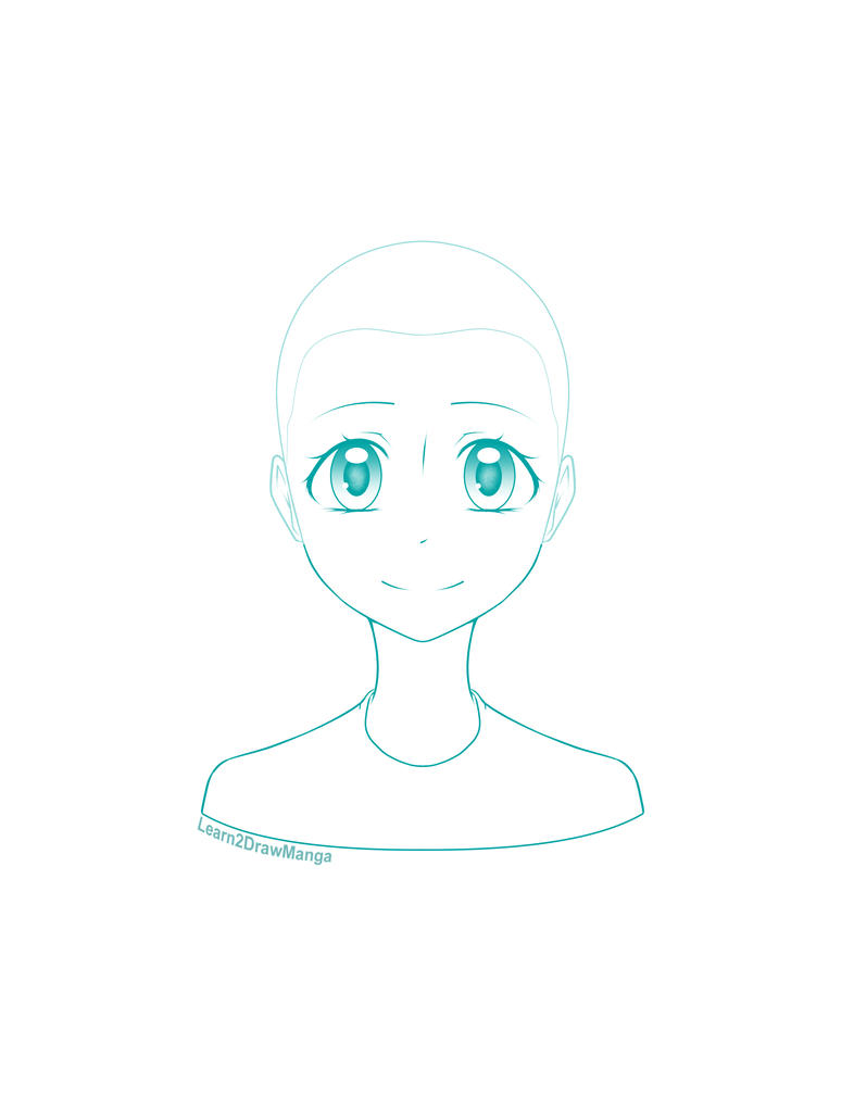 Manga Girl Head Template By Love2DrawManga