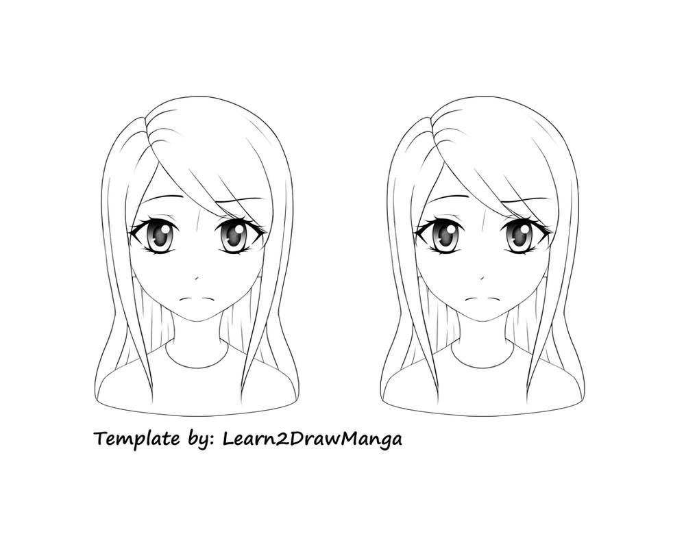 Hair Tutorial Template By Love2DrawManga
