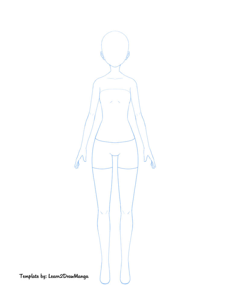 Female Body Template by Love2DrawManga on DeviantArt