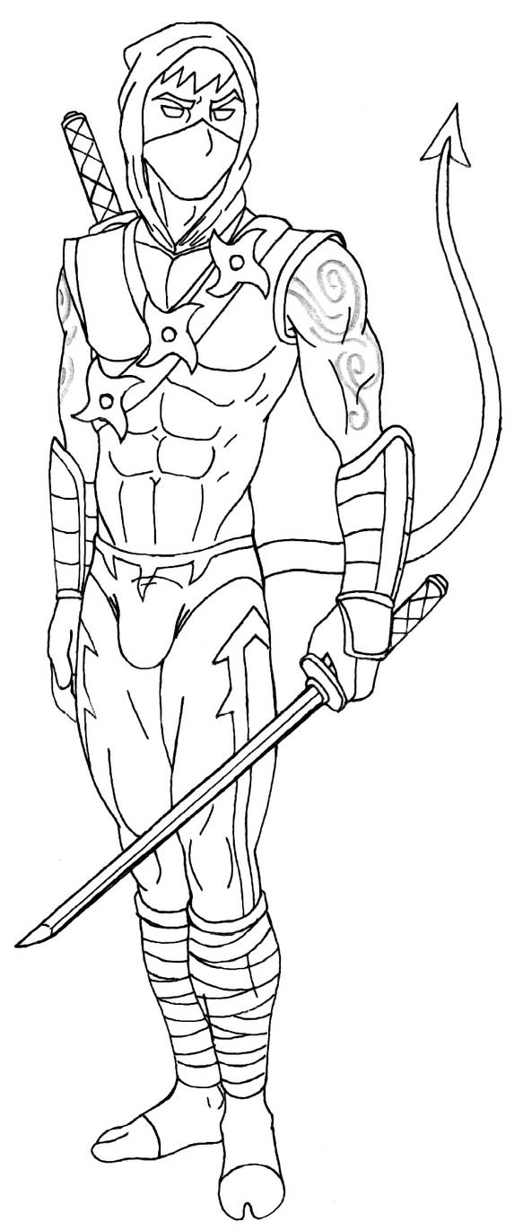Nocturnal Lineart 1 by 09tuf