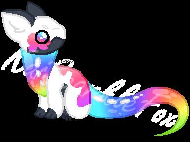 Rainbow NoodlePup OPEN by KaiSparkleFox