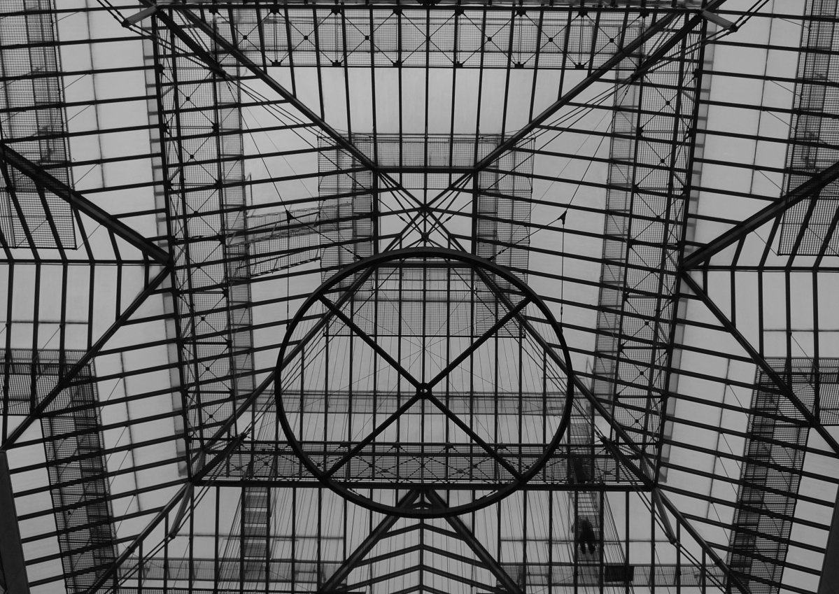 Steelwork skylight by Puckmonkey