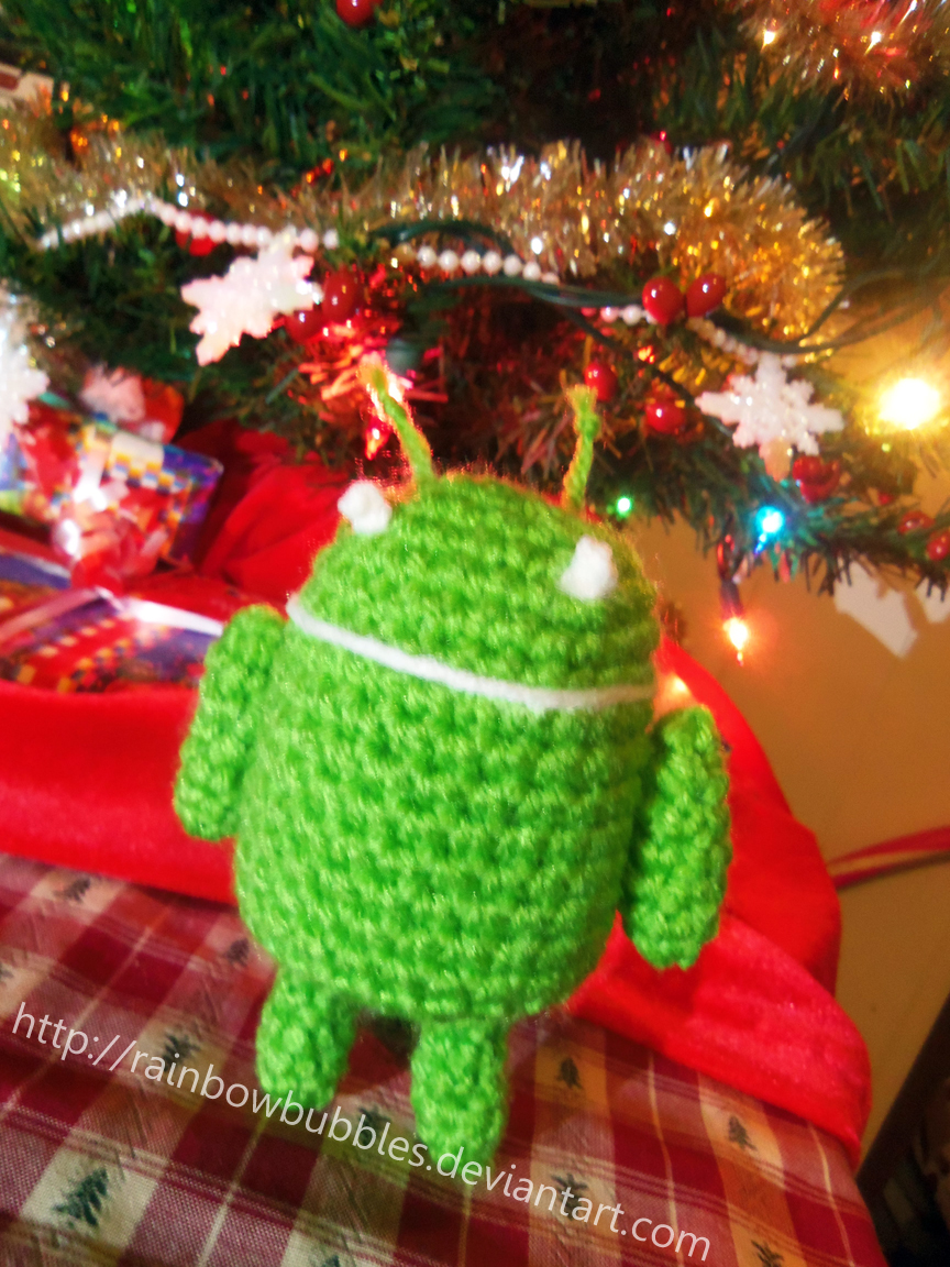Android logo Amigurumi by Rainbowbubbles