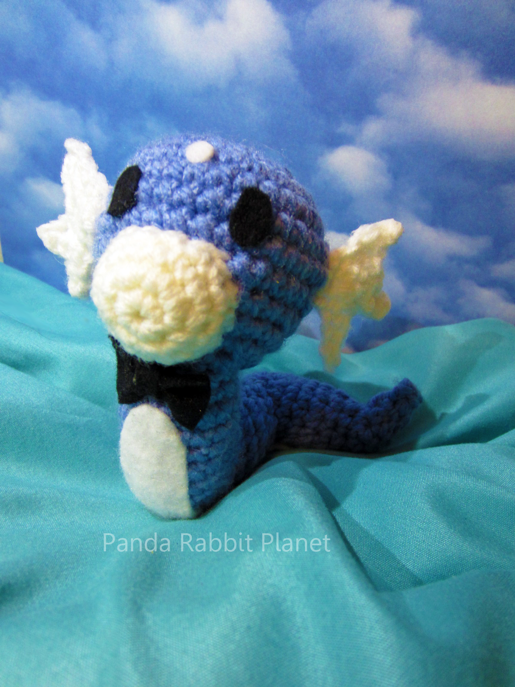 Bowtie Dratini amigurumi commission by Rainbowbubbles on ...