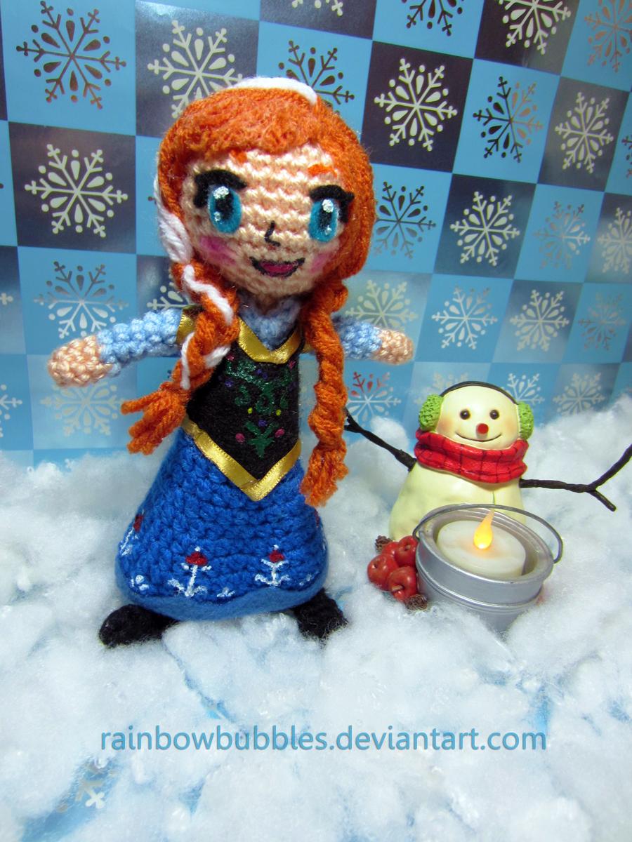 Amigurumi Frozen Doll : Princess Anna from Frozen amigurumi doll by Rainbowbubbles ...