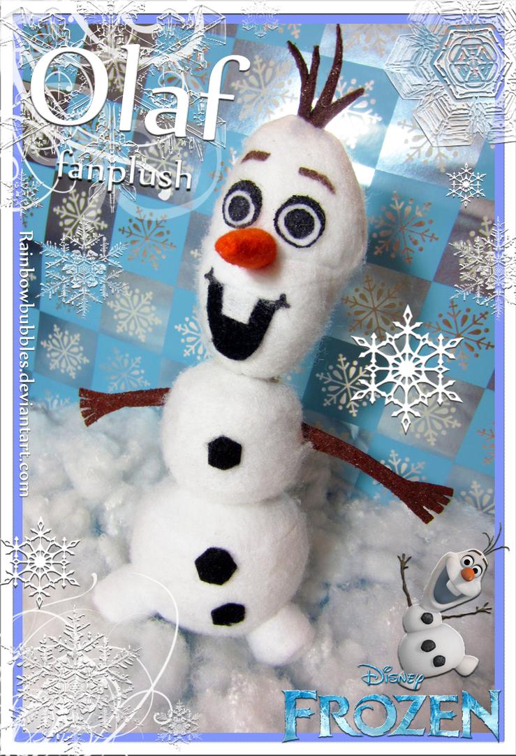 Commission-  Olaf fanplush with detachable head by Rainbowbubbles
