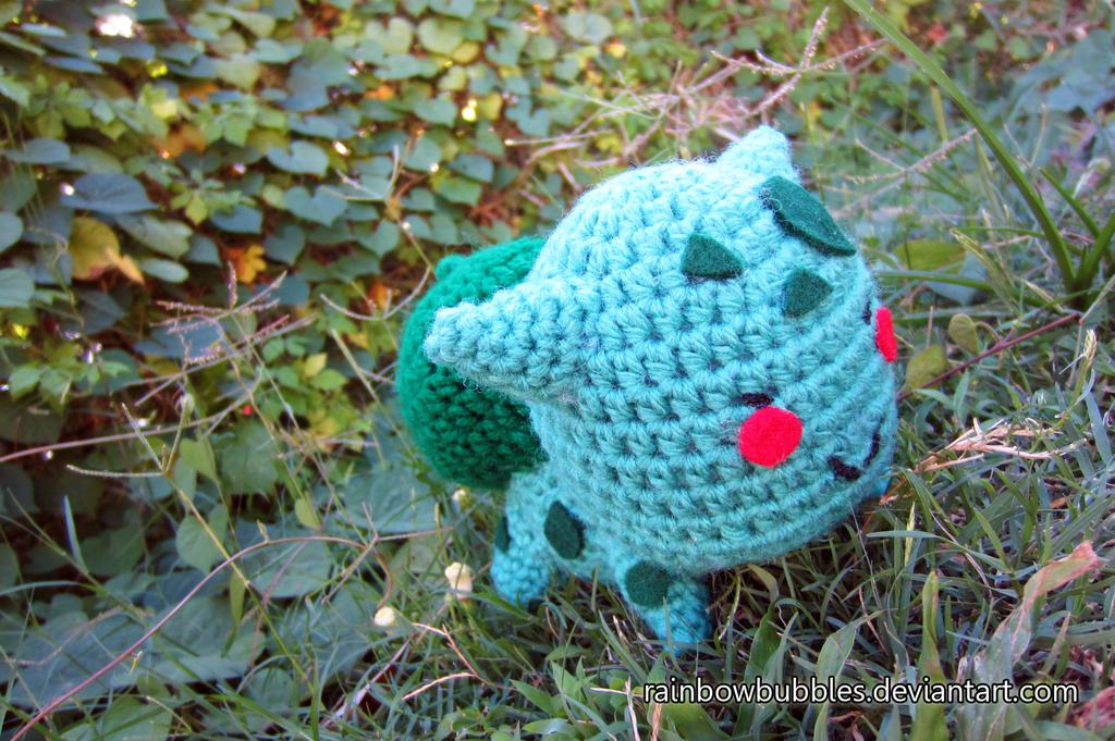 5 inch amigurumi Bulbasaur by Rainbowbubbles