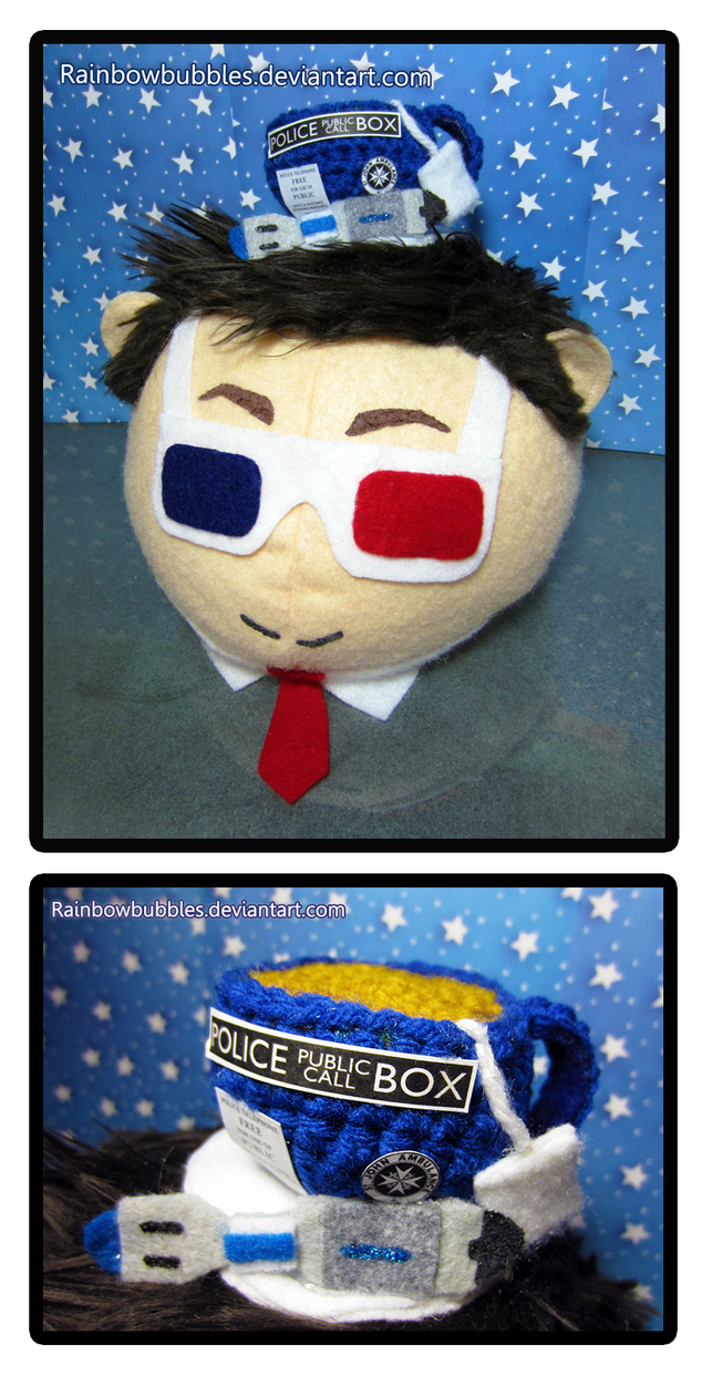Commission- 10th Doctor mochi plush by Rainbowbubbles