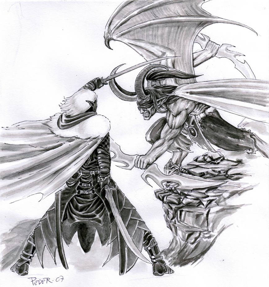 Drizzt vs  Illidan by Lordofhjoerring on DeviantArt