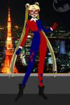 Sailor Moon/Tsukino Usagi as Harley Quinn