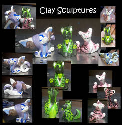 Little Clay Sculptures by MokuseiKaze