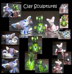 Little Clay Sculptures