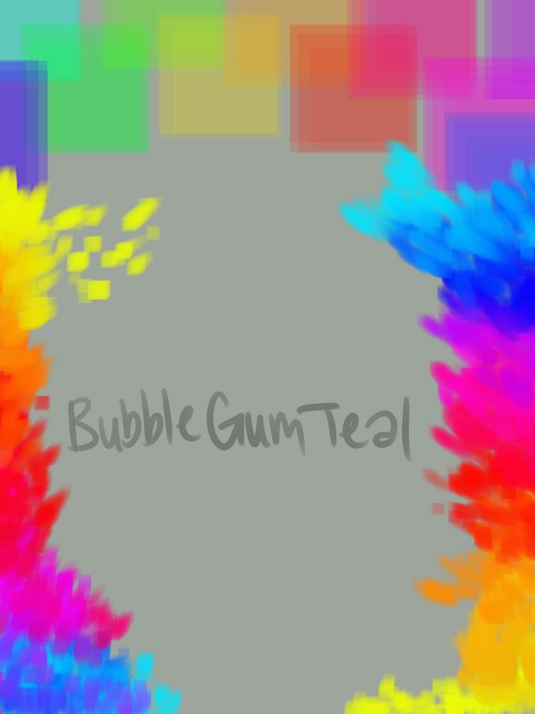 Rainbow background by Bubblegumteal
