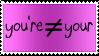 You're and Your Stamp by PirateLotus-Stock