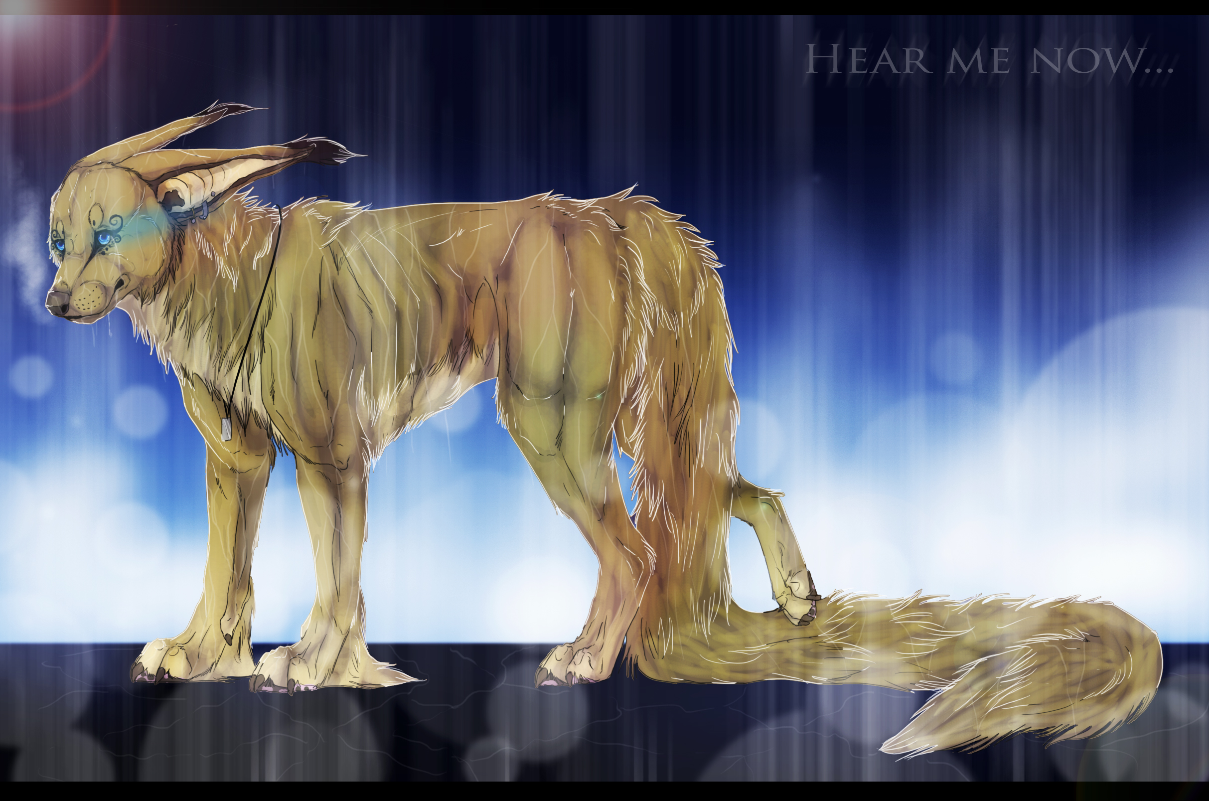 Dessins de chiens - Page 2 ___hear_me_now____by_skaella-d69agyr