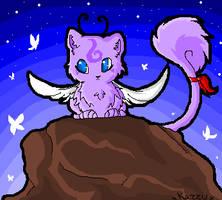 MS paint cat by Kazzuku