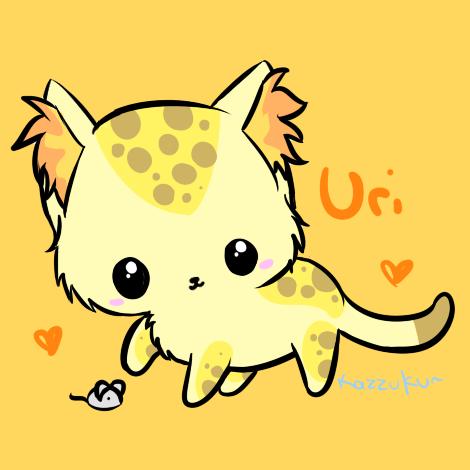 Uri and mouse by Kazzuku